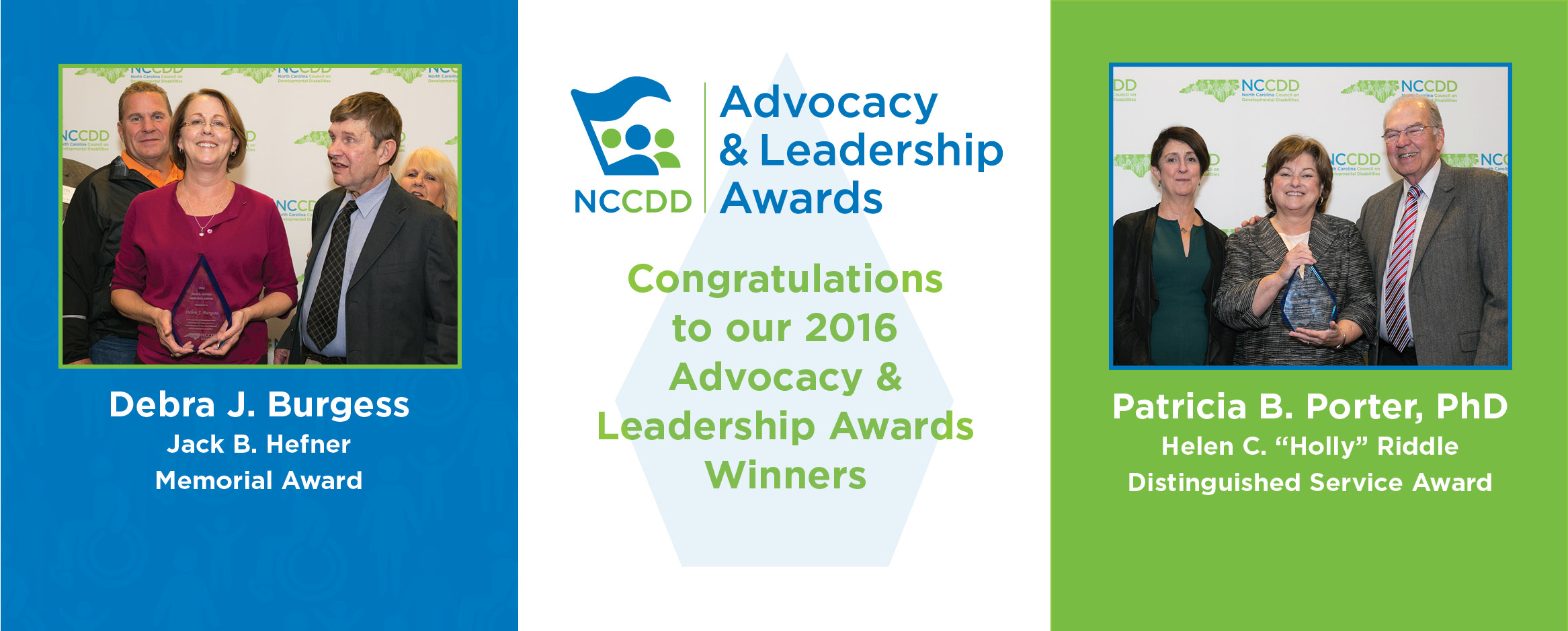 Congratulations to our 2016 Advocacy & Leadership Award Winners