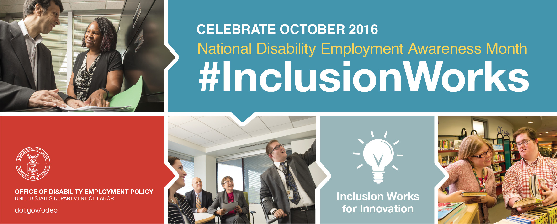 Celebrate National Disability Employment Awareness Month October 2106, #InclusionWorks