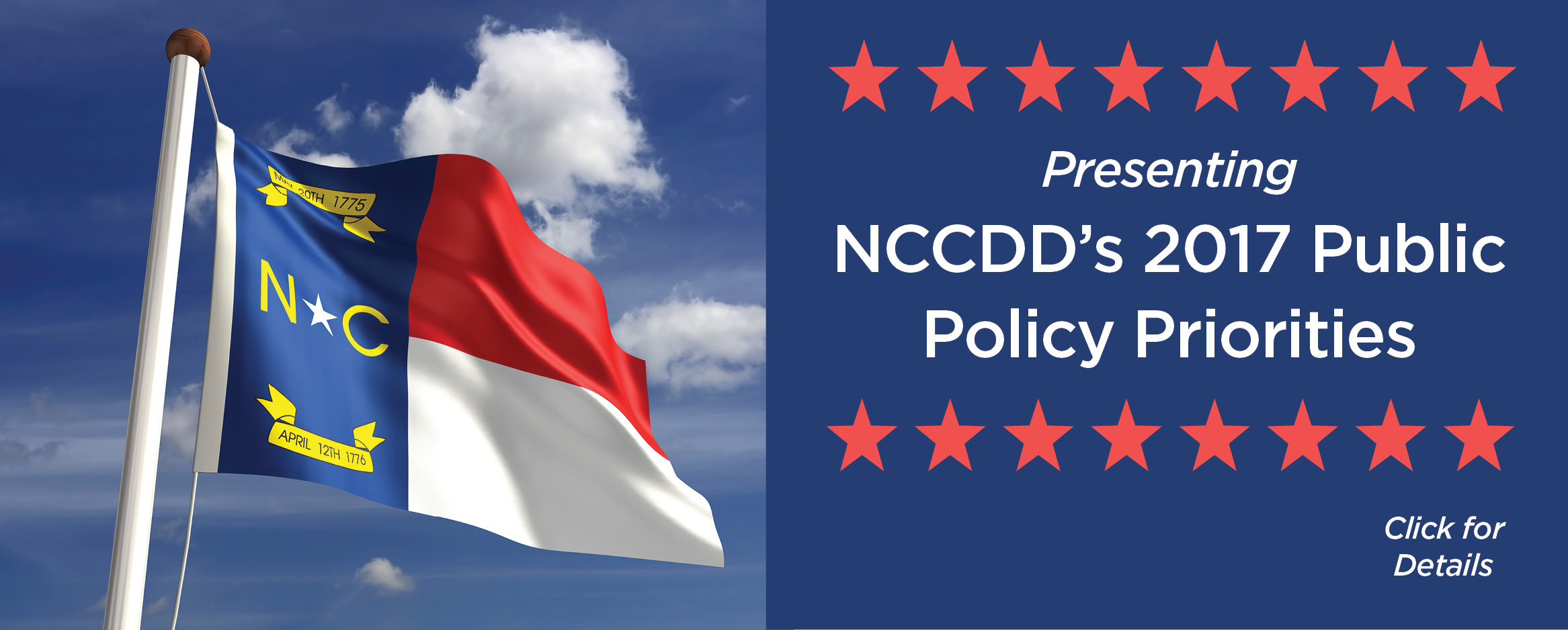 Presenting NCCDD's 2017 Public Policy Priorities. Click here for details.