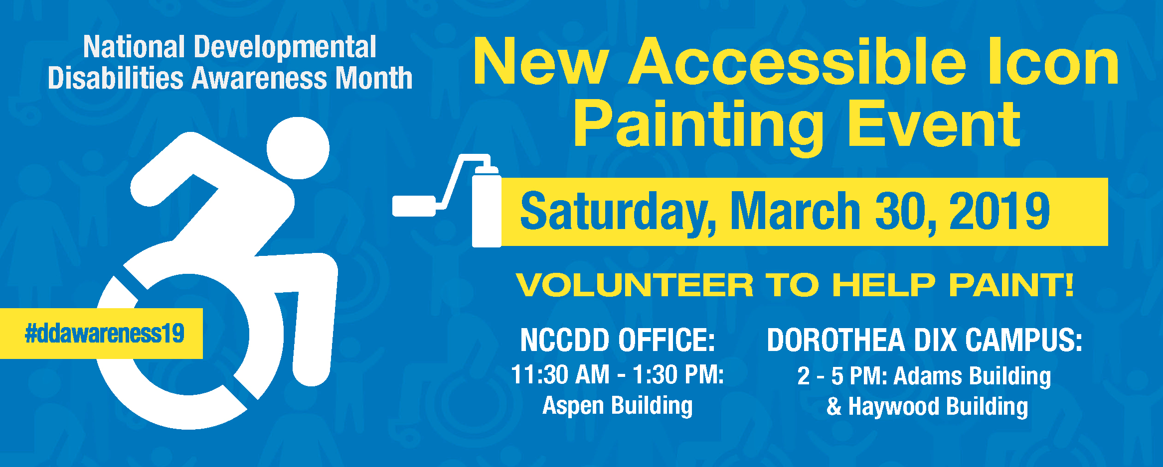 New Accessible Icon Painting Event - Sat, March 30