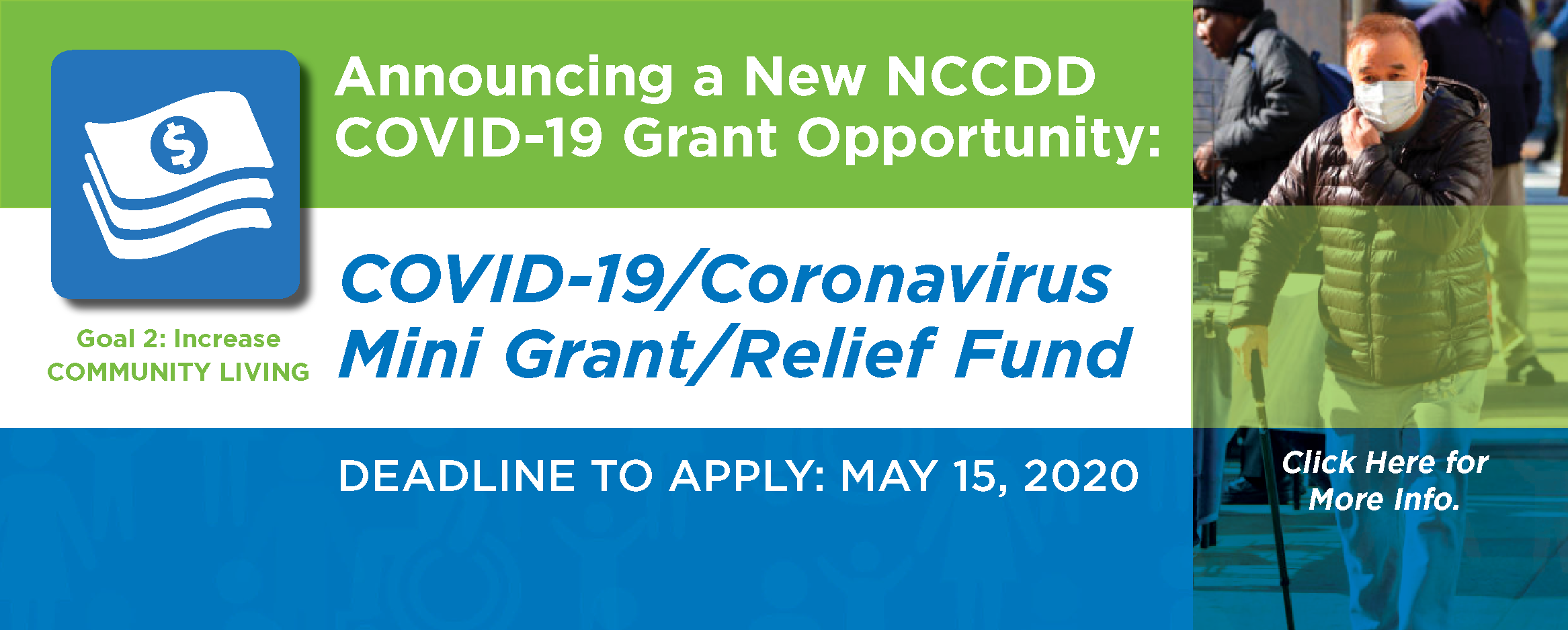 NCCDD Announces COVID-19/Coronavirus Mini Grant/Relief Fund. Deadline to Apply May 15, 2020. Click here for details.