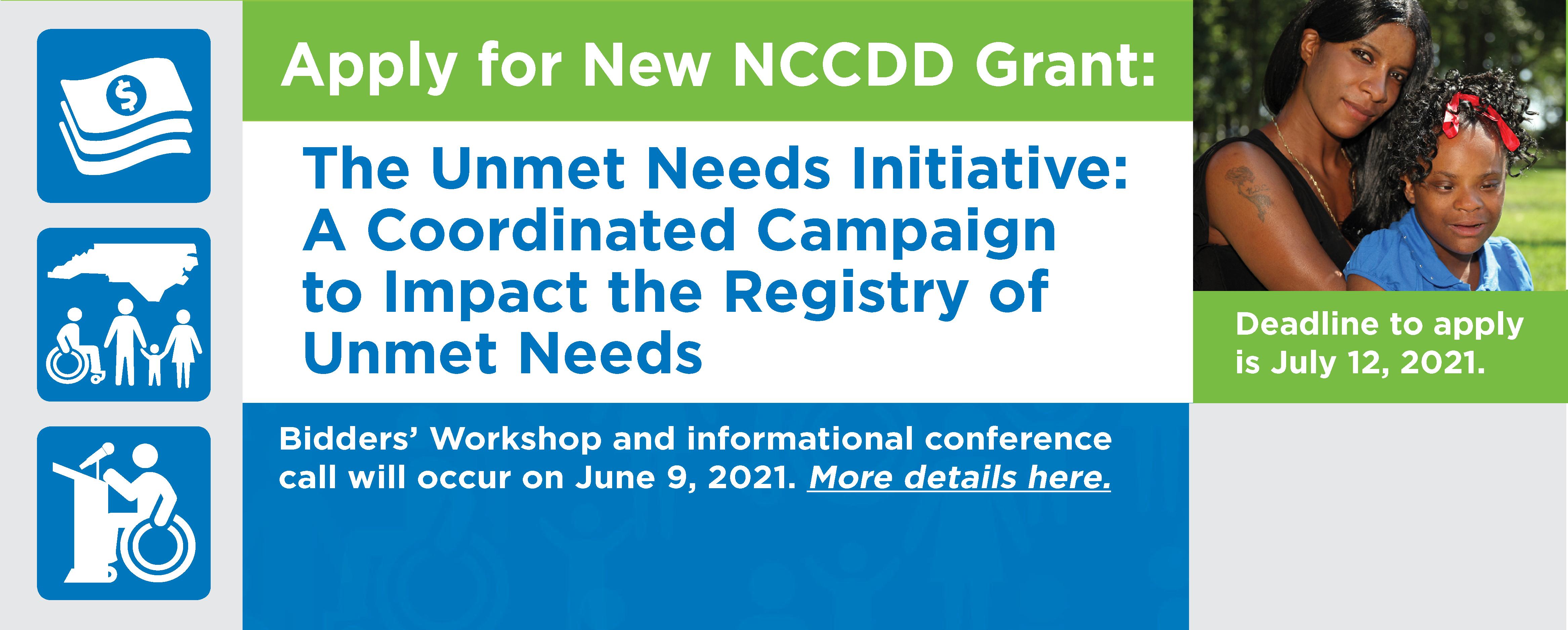 NCCDD Announces New RFA due 7/12/21