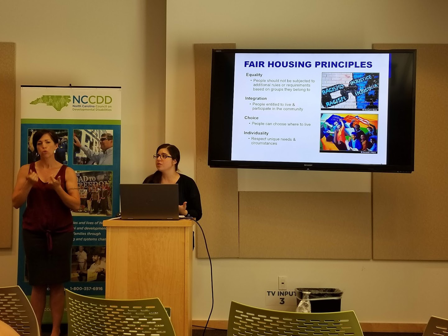 Lauren Brasil shows Fair Housing Principles PPT