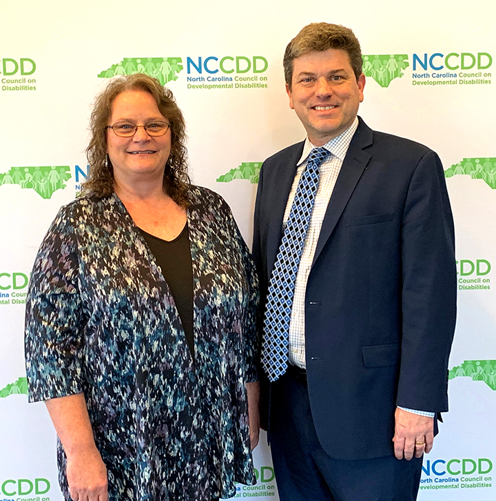 NCCDD Council Chair Kerri Eaker and Executive Director Talley Wells