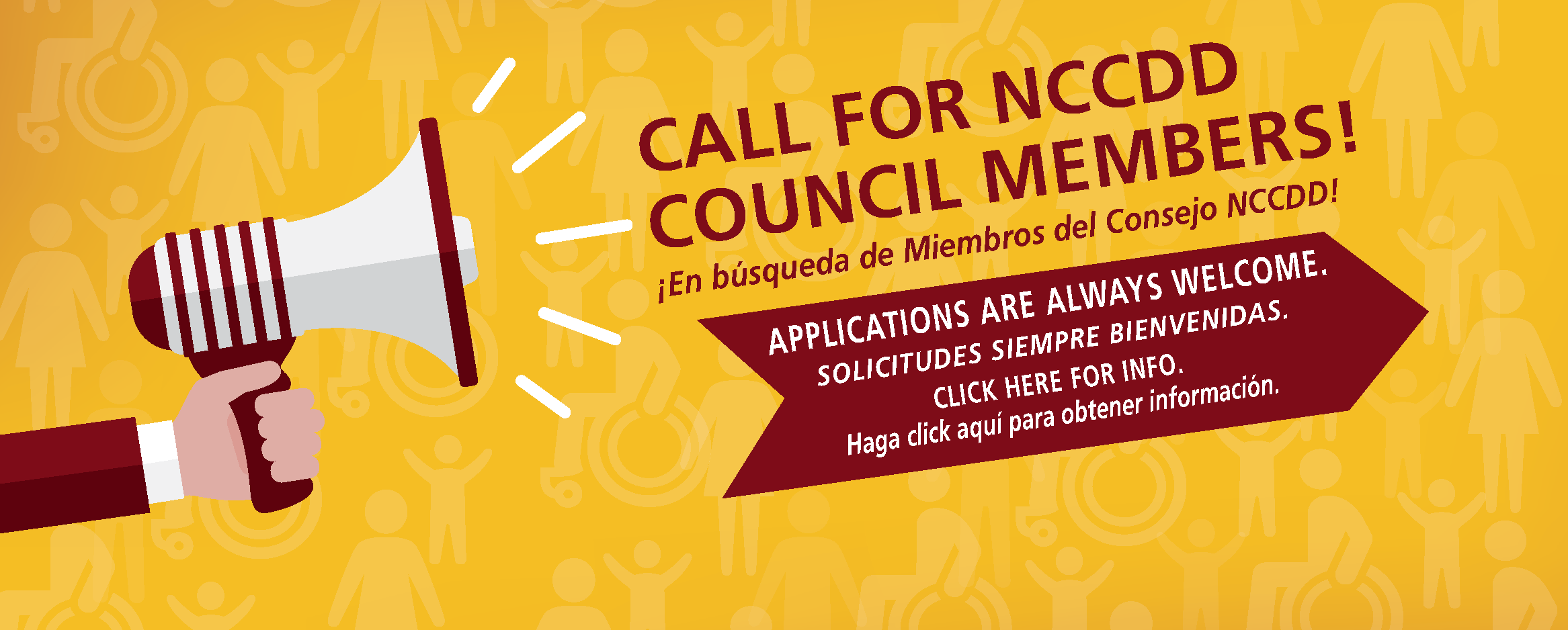 Call for NCCDD Council Members! Applications are always welcome. Click here for info.