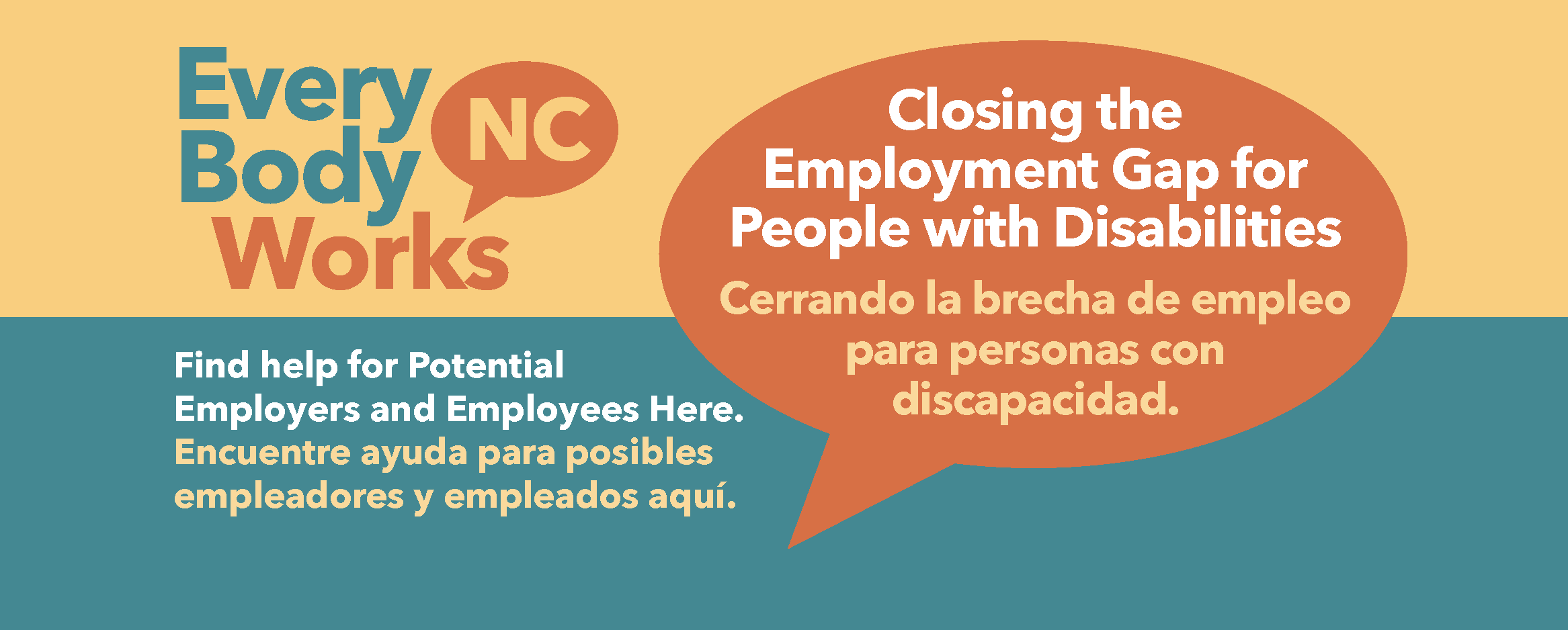 EveryBody Works NC - Closing the Employment Gap for People with Disabilities Cerrando la brecha de empleo para personas con discapacidad.