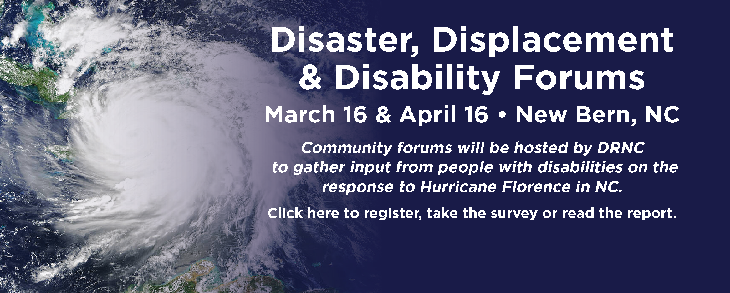 Disaster, Displacement & Disability Forums hosted by DRNC