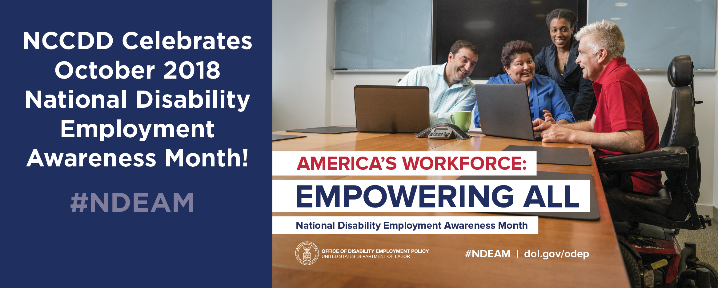 Celebrate National Disability Employment Awareness Month October 2018, #NDEAM