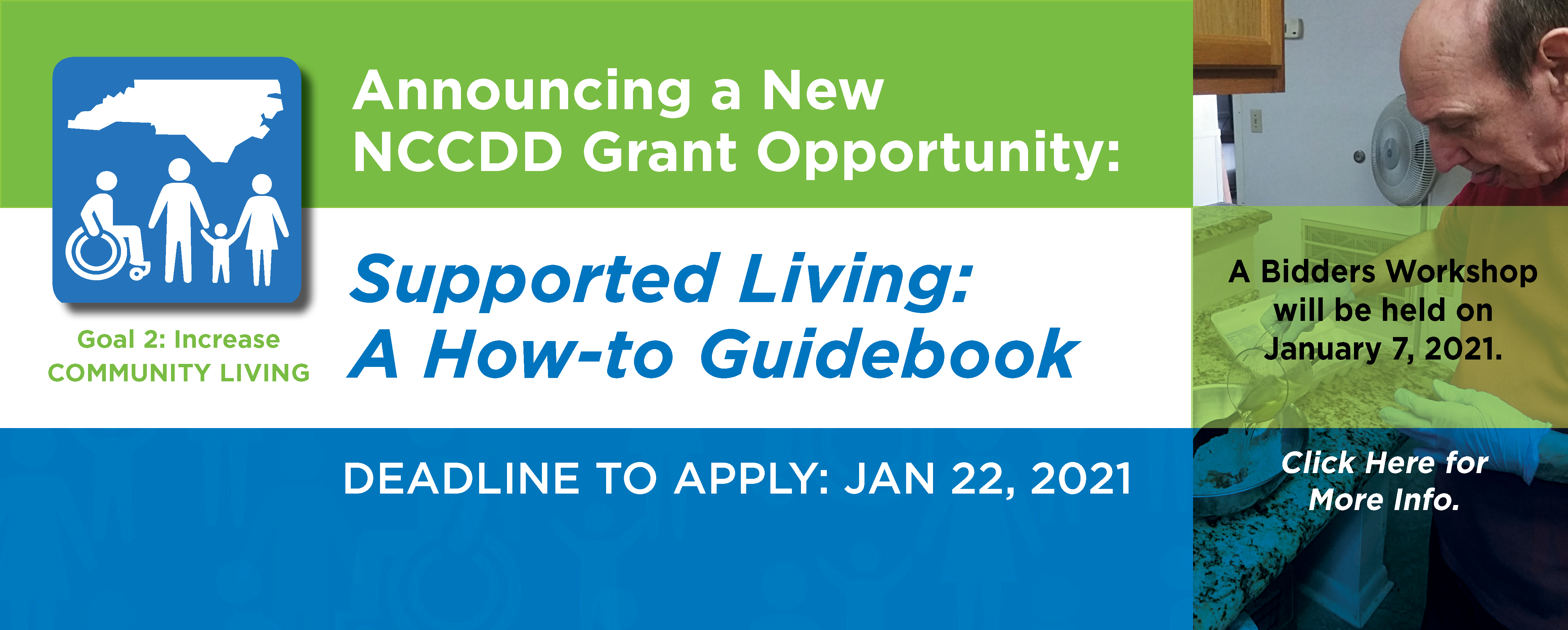NCCDD Announces New RFA - Supported Living: A How-to Guidebook. Deadline to Apply Jan 22, 2021. Click here for details.