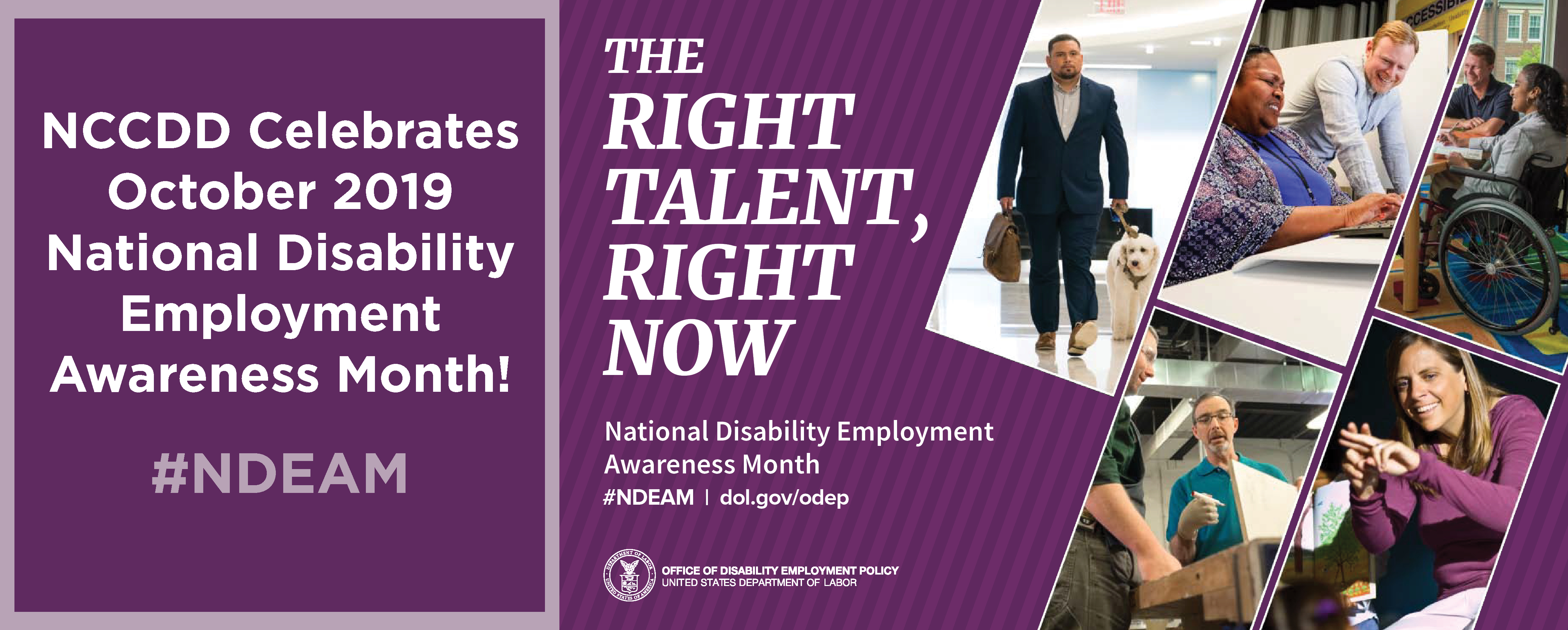 Celebrate National Disability Employment Awareness Month October 2019, #NDEAM