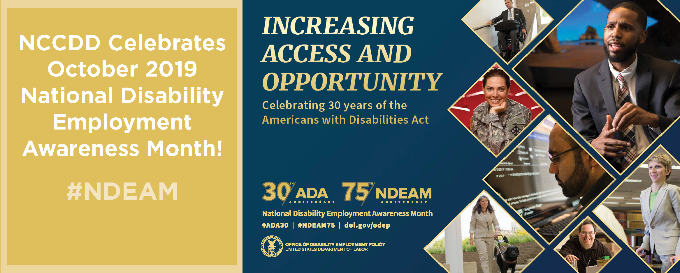 NCCDD celebrates National Disability Employment Awareness Month in October