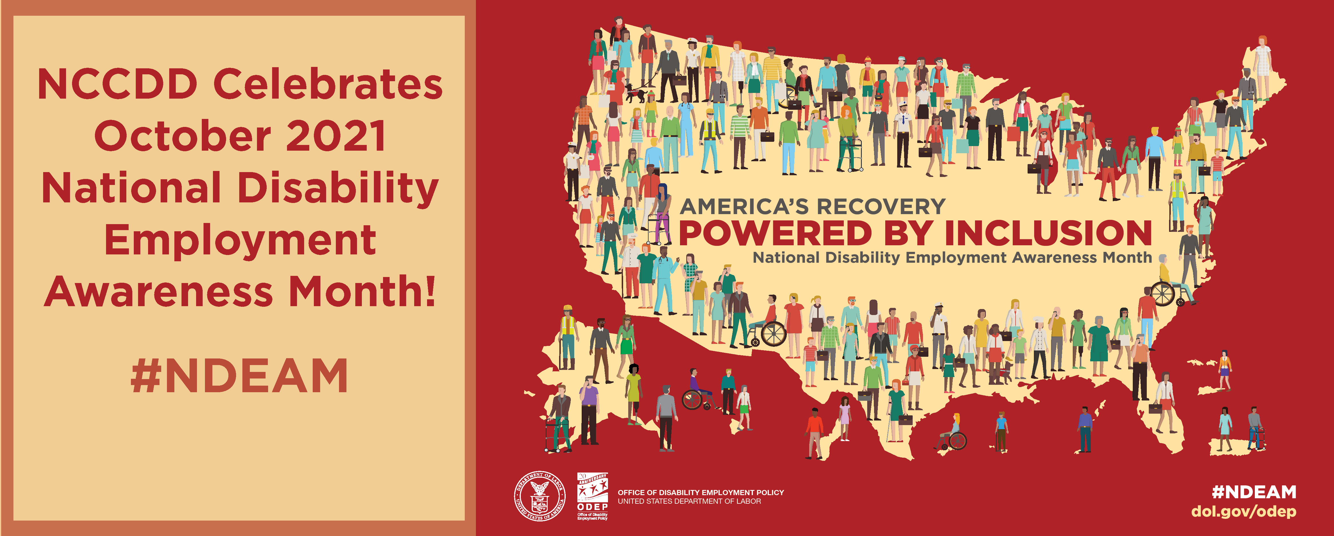 Celebrate National Disability Employment Awareness Month October 2021, #NDEAM