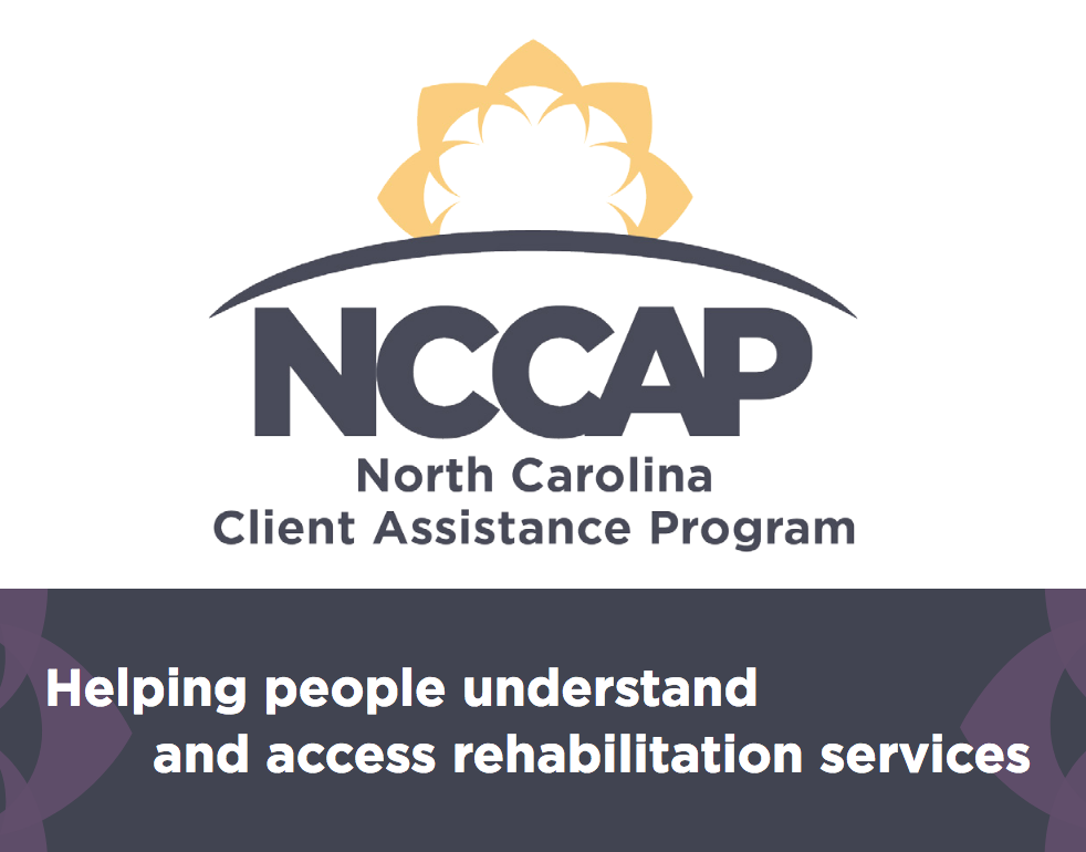 North Carolina Client Assistance Program logo - helping people understand and access rehab services