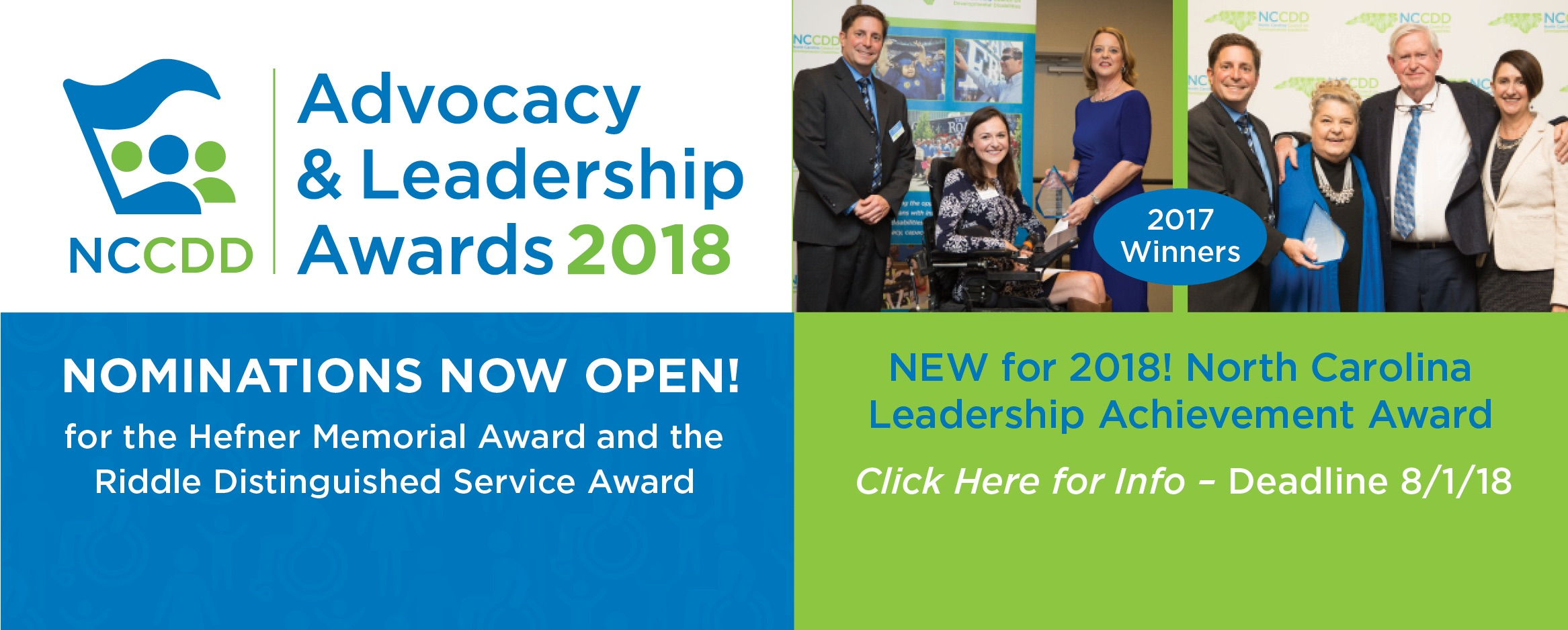 NCCDD Advocacy Leadership Awards 2018