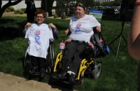 Pam Dickens and Ellen Perry proudly celebrate the ADA25 Anniversary