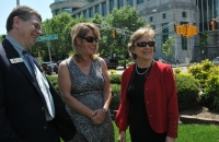 Rep. Verla Insko (right) with John Nash from the Arc of North Carolina and Beth Stalvey of NCCDD