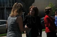 Senator Tamara Barringer stops by the ADA Tour stop in Raleigh