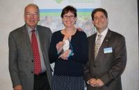 NCCDD Chairman Ron Reeve, Becky Garland Hopper, NCCDD Executive Director Chris Egan