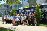The crowd comes together to celebrate the ADA.
