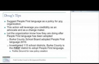 Spreading People First Language Webinar North Carolina Council on Developmental Disabilities